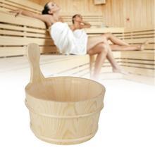 Ведерко для ванной комнаты из натуральной сауны с внутренним вкладышем, портативное деревянное оборудование для снижения веса кожи, инструменты для сауны