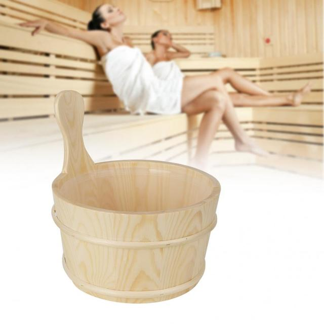 Bathroom Natural Sauna Barrel Bucket with Inner Liner Portable Wooden Beneficial Skin Weight loss Supplies for Sauna Room Tools