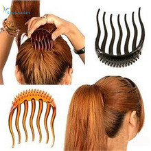 1 Pcs Ponytail Fluffy Hair Comb Bump Up Inserts Plastic Decoration Tools 2 Colors 6*8cm