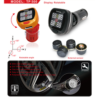 TP500 TPMS Display Rotatable With USB Socket Support Bar PSI Best Tire Pressure And Temperature Monitoring