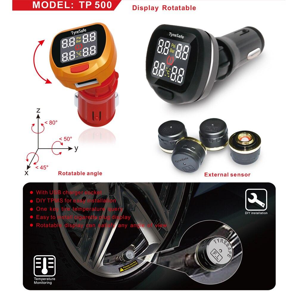 Ángulo giratorio TP500 Pantalla TPMS más nueva con conector USB - Electrónica del Automóvil - foto 1