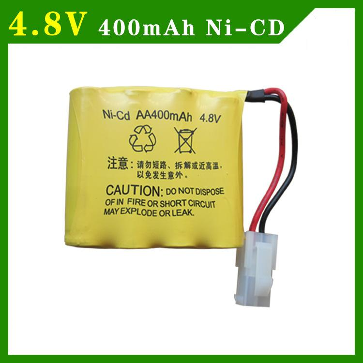 2pcs/packaging 4.8V 400mAh AA 4 in 1 Ni-Cd battery set Huanqi RC Tank 508 550 RC Car HQ 611 605 yukala 4 8 v 700mah n cd aa battery for rc car rc boat rc tank 2pcs lot free shipping