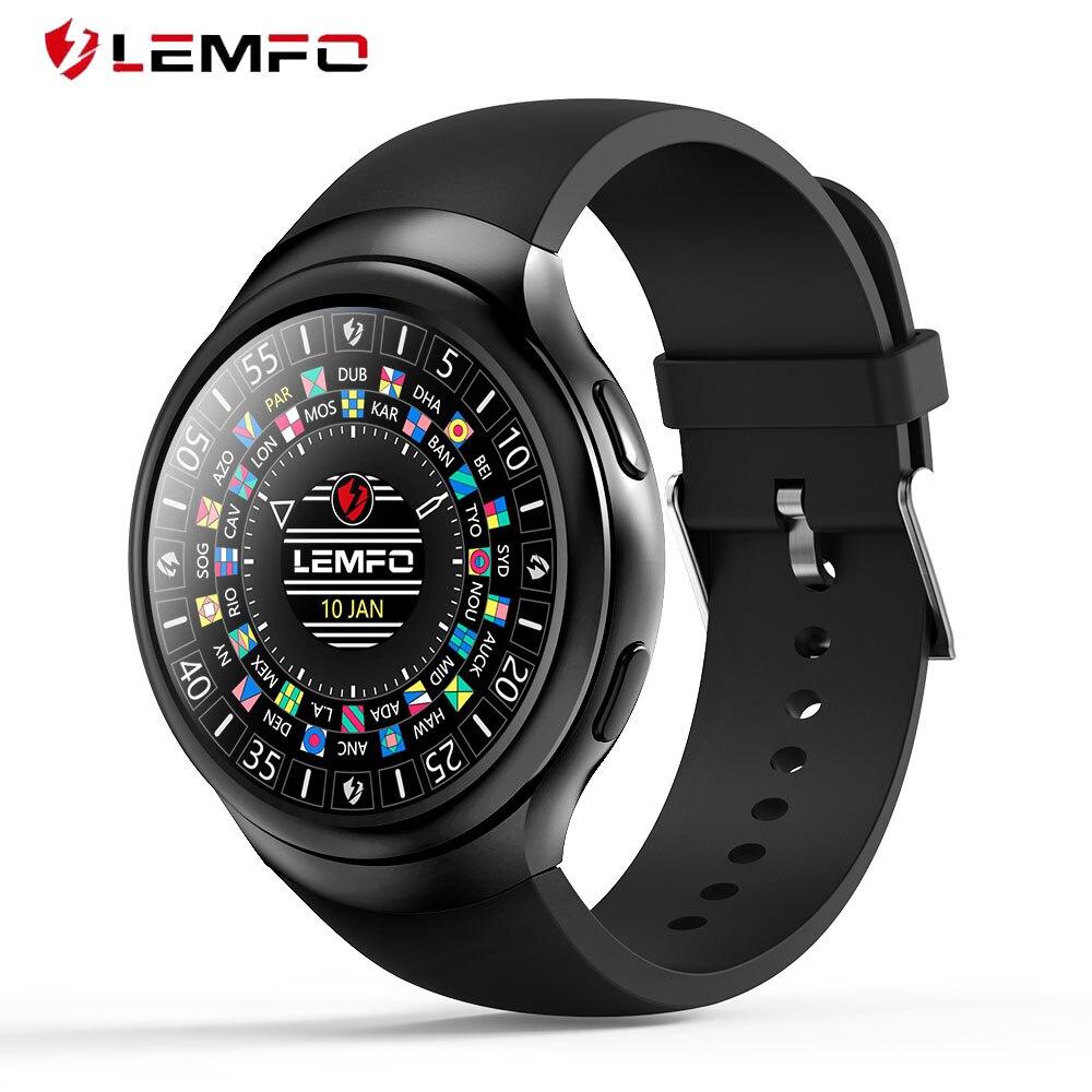 LEMFO LES2 Orologi Smart Smartwatch Android 1 gb + 16 gb Telefono Della Vigilanza Del Monitor di Frequenza Cardiaca GPS Wifi Bluetooth Orologio Da Polso