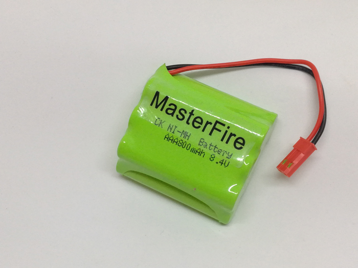 MasterFire 9PACK LOT New Original 8 4V 800mAh 7x AAA Ni MH RC Rechargeable Battery Pack fo Helicopter Robot Car Toys with Plugs in Battery Packs from Consumer Electronics