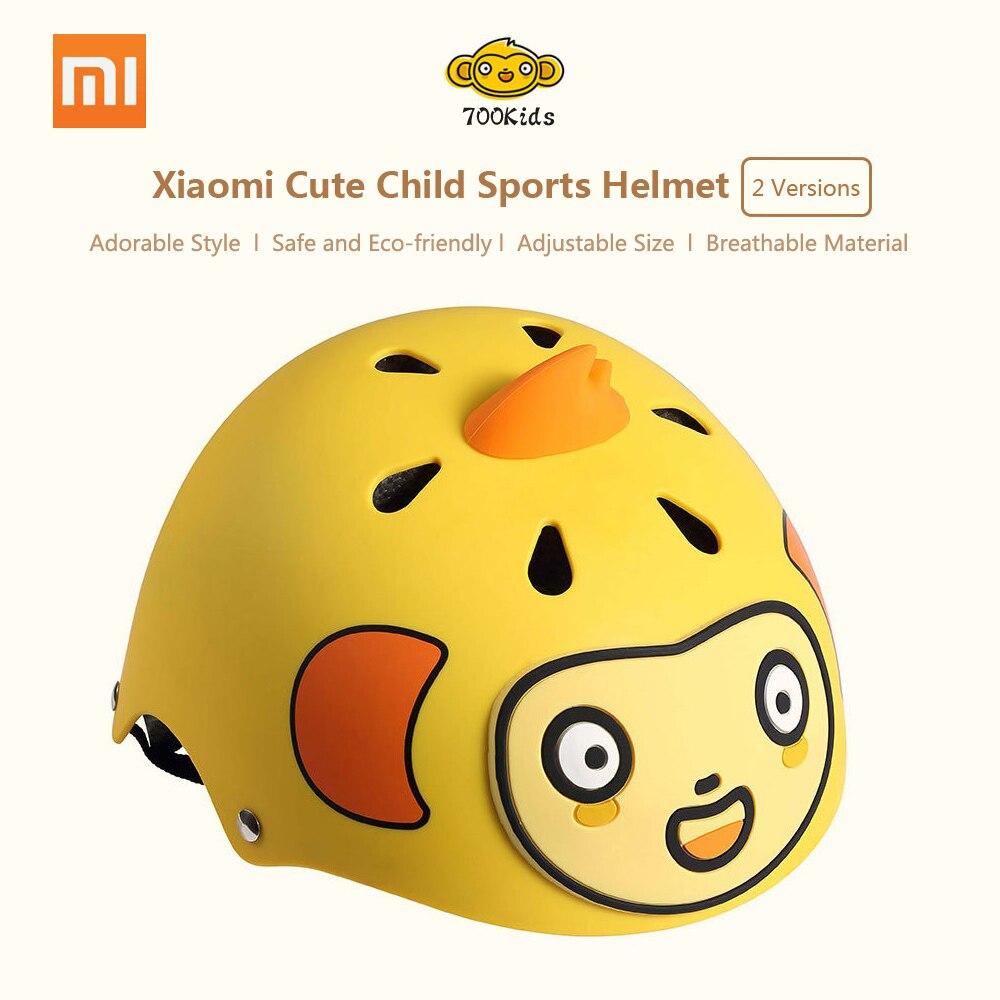 Xiaomi 700 дети милые детский спортивный шлем защиты мультфильм велосипед Скутер кататься на лыжах защитный Шестерни Регулируемые дышащие купить на AliExpress