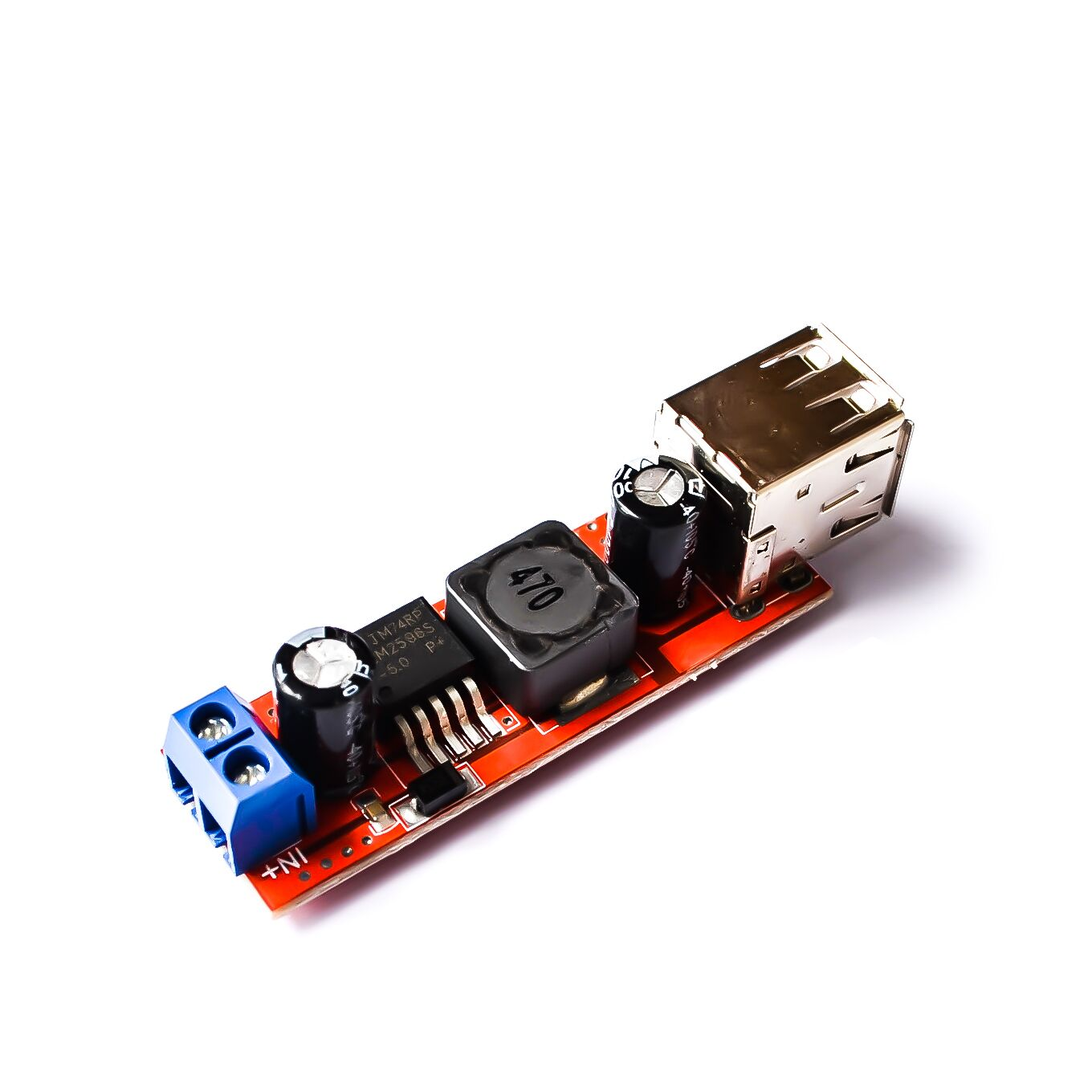 DC 6V-40V To 5V 3A Double USB Charge DC-DC Step-down Converter Module For Vehicle Charger LM2596 Dual USB