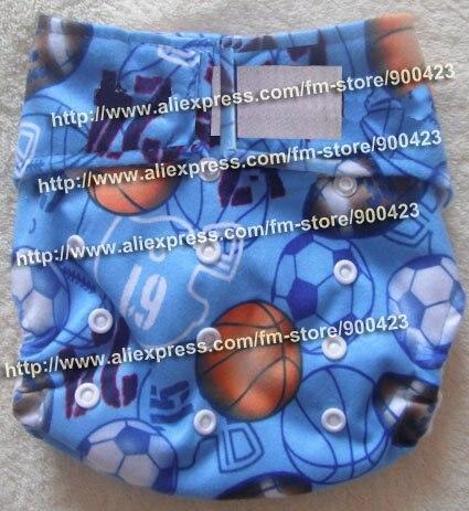 Моющиеся детские подгузники 10 шт. тканевые подгузники+ 10 шт. вставки подходят 4-17 кг - Цвет: blue ball