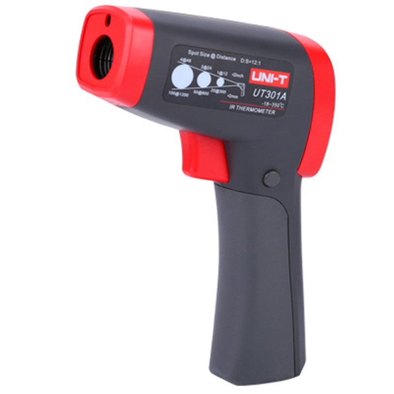UNI-T UT301A Handheld Infrared Thermometer Temperature Gun Non-Contact Meter Industrial Electronic Thermometer -18~350 degrees tasi 8606 infrared thermometer 32 380 degrees infrared thermometer non contact thermometer industrial and household