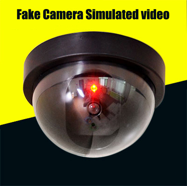 Waterproof Home Security Fake Camera Simulated video Surveillance indoor/outdoor Surveillance Dummy Ir Led Fake Dome camera fake dummy security camera cctv surveillance system with realistic simulated leds outdoor indoor for home cam warning sticker