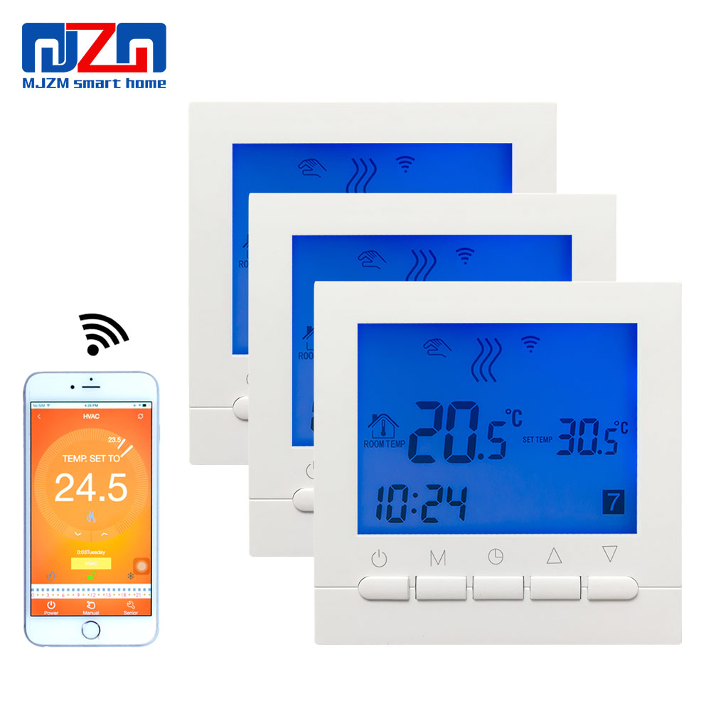 MJZM 3pcs 16A02 5BB WiFi Thermostat for Warm Electric Floor Smart Room Digital Thermostat Temperature Controls