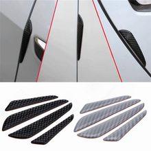 4 sztuk/zestaw ochraniacz drzwi samochodu naklejki Car Styling anty paski zderzeniowe Auto drzwi osłona boczna dekoracja naklejki samochodowe paski