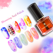 BORN PRETTY Watercolor Ink Nail Polish 6ml Colorful Blossom Smuge Art Varnish DIY Manicure Design