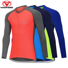 ФОТО vospark 2018 men's cycling jersey long sleeve spring summer mtb clothing bike bicycle shirts sportwear maillot ropa ciclismo