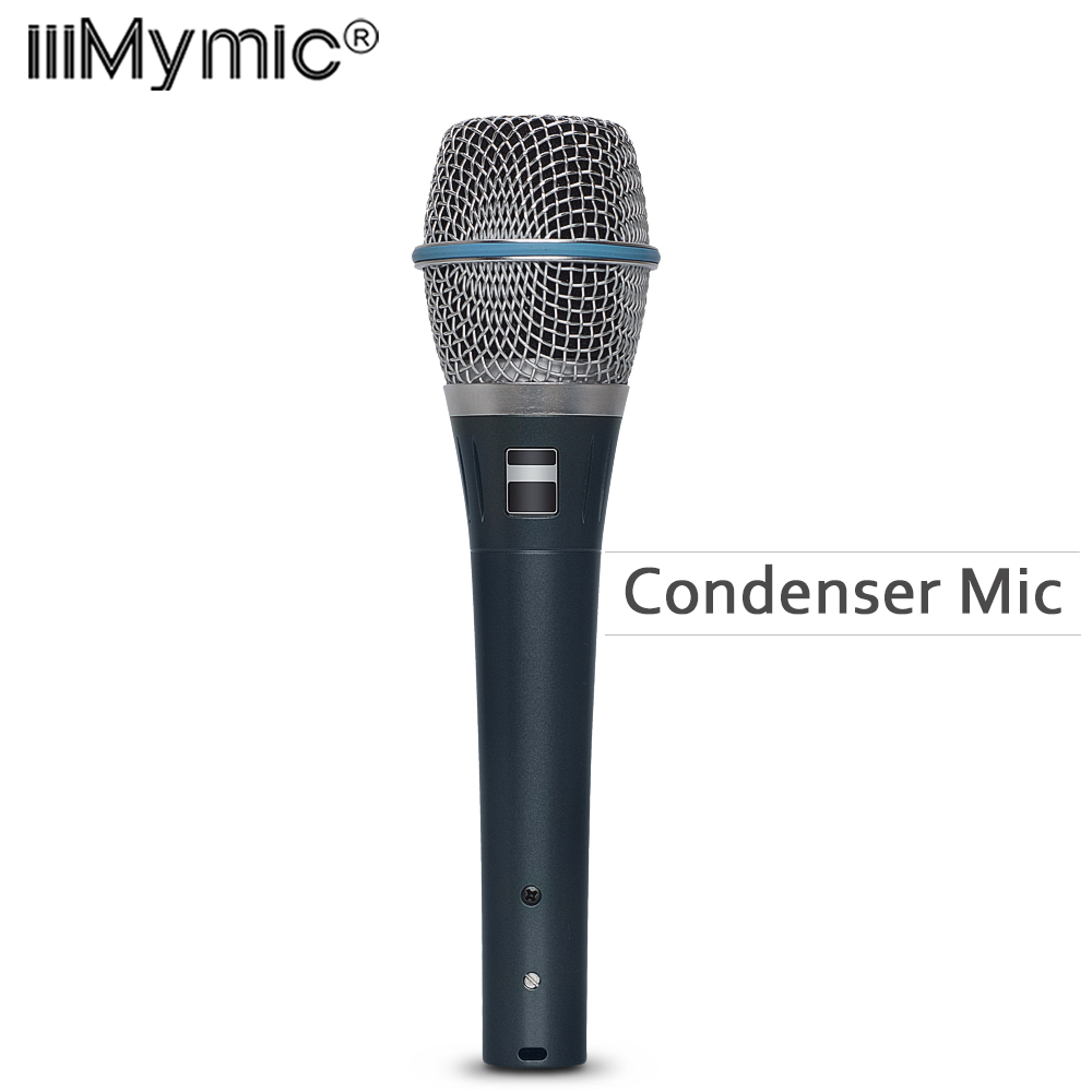 Top Quality Real Condenser BT 87A Professional Supercardioid B 87 A Vocal Karaoke Handheld Microphone Microfono