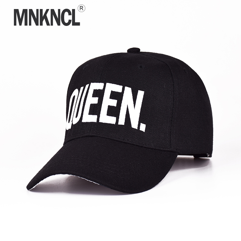MNKNCL Hot Selling King Queen Letter Embroidery Baseball Cap Couples Hip Hop Snapback Cap for Man Hat Women bone aba reta gorr protective full body pc case for macbook pro 13 3 transparent white