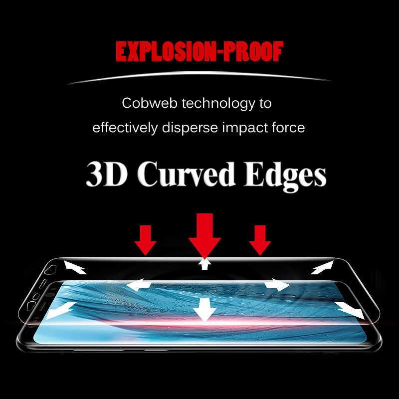 ป้องกันสำหรับ Galaxy S9 S8 S6 S7 Edge Plus ป้องกันหน้าจอ 3D โค้ง 9 S 8 S 7 S S 8 9 7 6 S9Plus S8Plus ฟิล์ม (แก้ว)