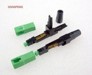 Image 4 - GONGFENG 100 adet YENI Fiber Optik Hızlı Bağlantı SC/APC Kullanılan Optik Fiber kablo Hızlı Konektörü Özel Toptan brezilya