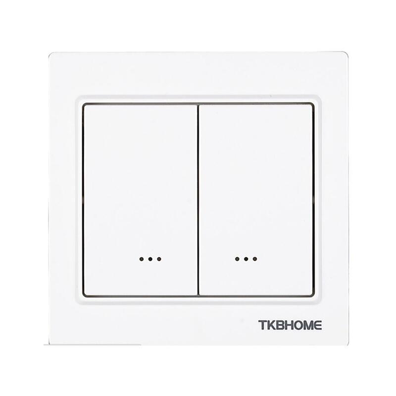 TKB home Z Wave plus Dual Wall ON OFF Switch TZ56D EU868 42MHz light switch socket