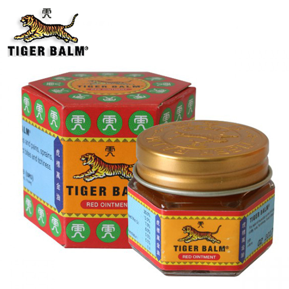 100% Natural Original 19.4g Red Tiger Balm Ointment Thailand Painkiller Ointment Muscle Pain Massage Relief Ointment Soothe Itch