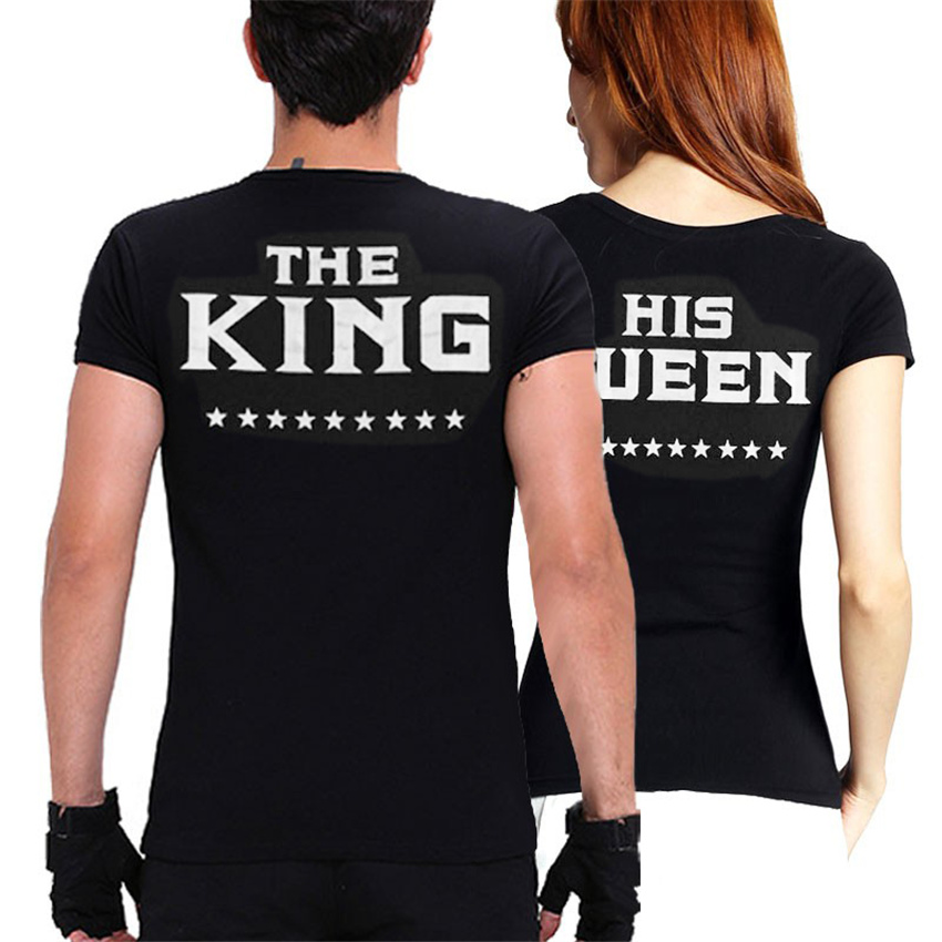 904985ae5 YEMUSEED Plus XXXL Size Lovers The King His Queen Back Printed Tee shirts  Harajuku Couple Hipster T shirt Tops WMT309-in T-Shirts from Women's  Clothing on ...