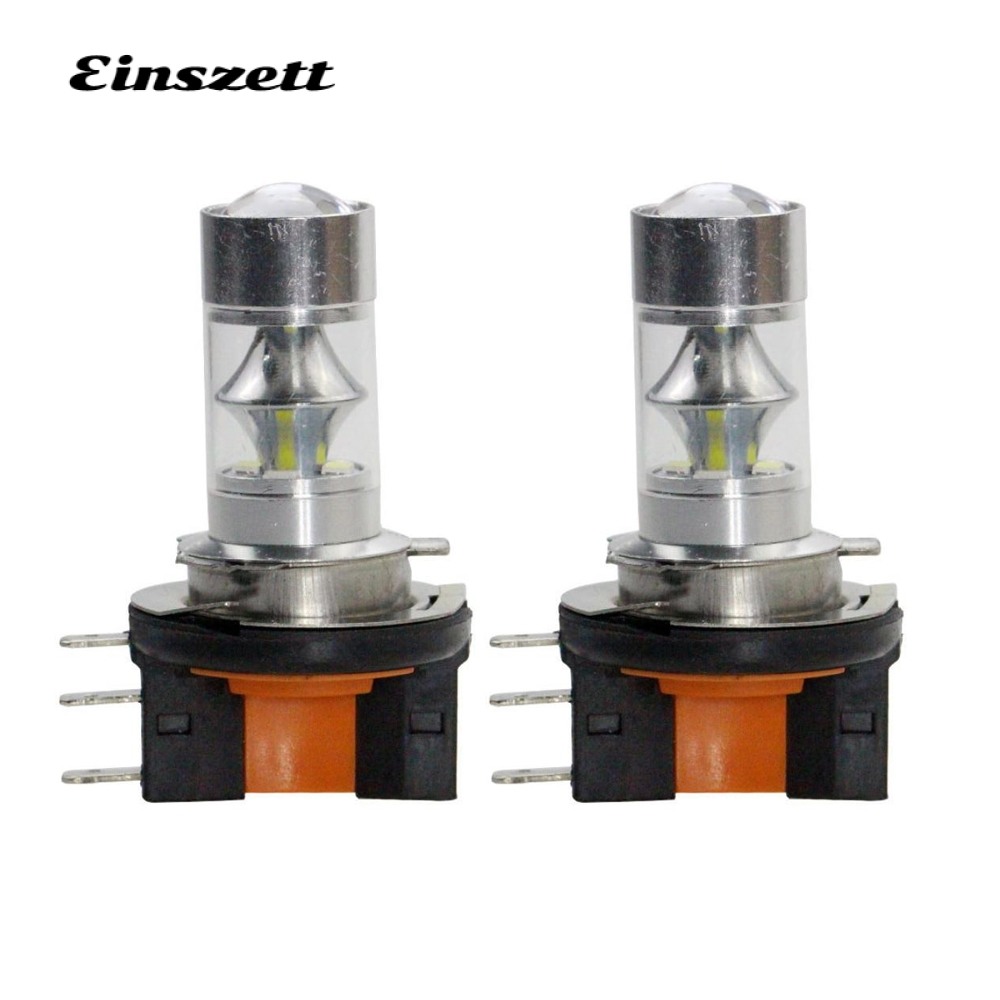 2pcs H15 LED Fog Light High Power 12V 12SMD 2835 12W Bright White LED HeadLight Bulb