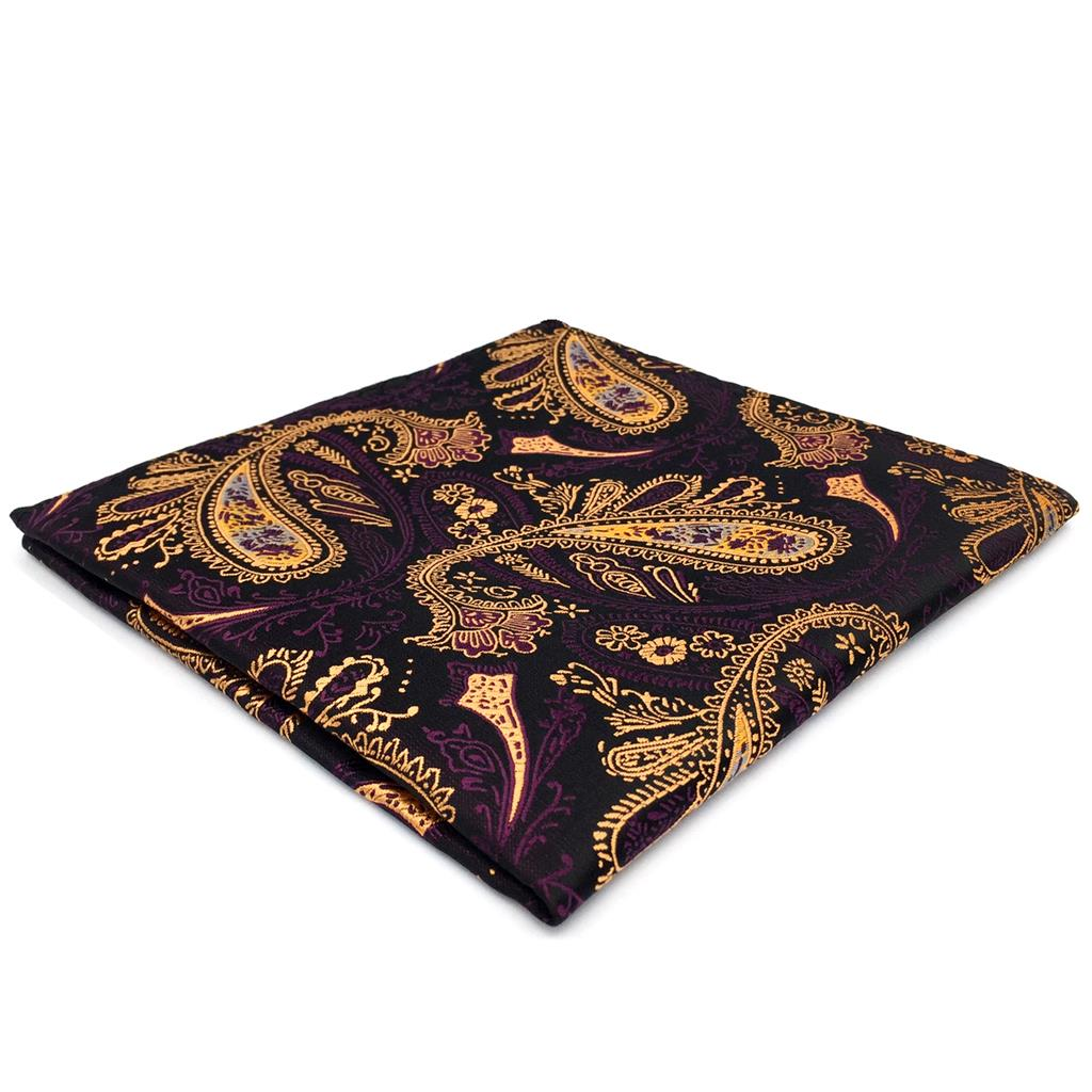 FH10 Multicolor Paisley Mens Pocket Square Designer Party Accessory Handkerchief