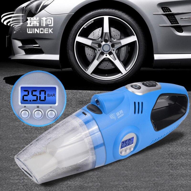 WINDEK 12 v Auto Auto Elektrische Luft Kompressor Reifen Inflator Pumpe Handheld Auto Staubsauger Auto Tragbare Staub Pinsel für auto