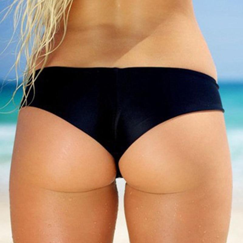 f46c341456 Sexy Women Bathing Thong Printed Bikini Bottom Swimwear Swimsuit Brazilian  Cheeky Bottom Swimsuit Biquini Bikinis-in Two-Piece Separates from Sports  ...