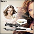 2 in 1 Tourmaline Ceramic Hair Straightener Brush Hair Curler Multifunctional Hair Straightening Curling Iron Hair Styling Tool