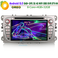 Android 8.0 Autoradio GPS DAB+ Car Multimedia player FOR Ford Focus C/S Max Mondeo Galaxy CD Canbus SD WiFi 3G 4G DVR OBD BT