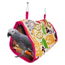 Flannelette Bird Hanging Cave Cage Parrot Hammock Bed Mat House Swing Nest Tent