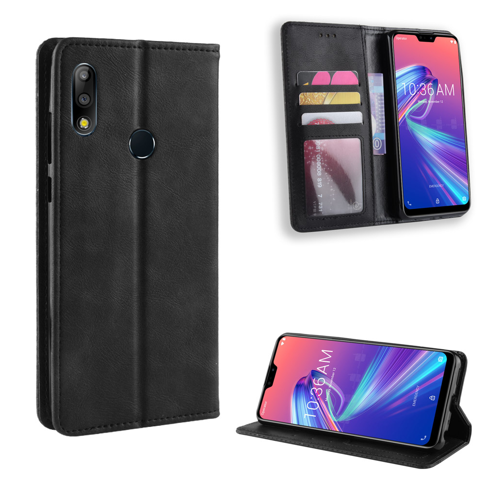Zenfone Max Plus M2 ZB634KL Retro Classic Stand Wallet Leather Case For Asus Zenfone Max Shot ZB634KL Case With Magnetic Case