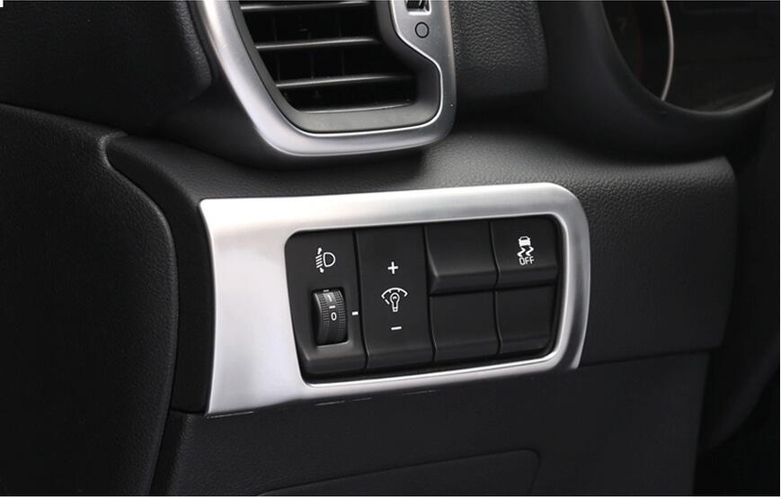 ABS Inner Centre Control Decoration Cover Molding Multifunction Headlight Button Frame Trim For KIA Sportage 2016 2017 matte