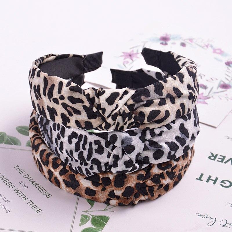 leopard print chiffon hair bands