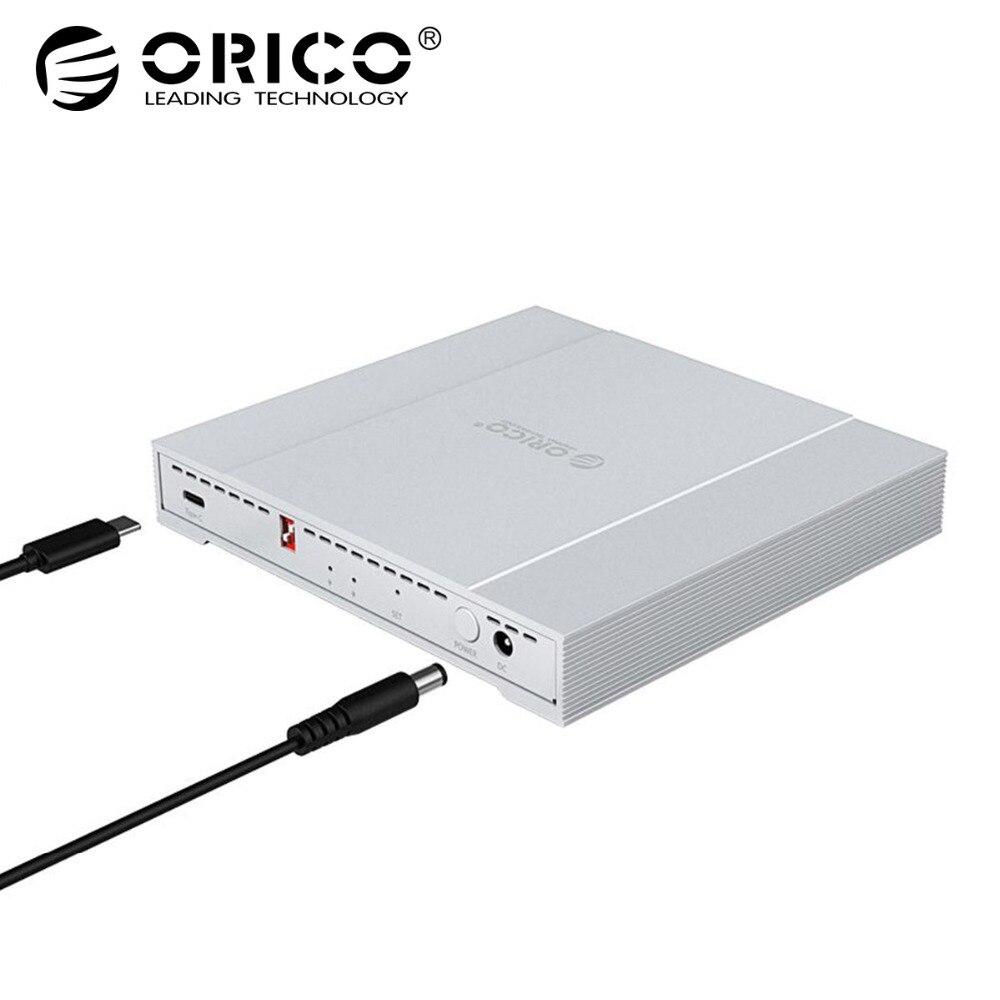 Carcasa de disco duro ORICO de doble bahía de aluminio 2,5 pulgadas USB3.1 tipo C 10 Gbps RAID 2 TB * 2 carcasa de disco duro externo (2529RC3) HDD