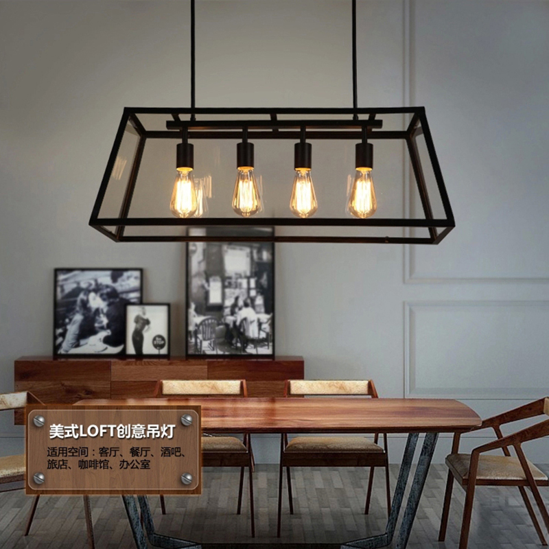 Black Vintage Industrial Pendant Light Loft Style Lights Nordic Retro Lamps Spider 4 Heads Edison Dining Living Room Lamp