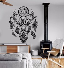 Art  Wall Sticker Dream Catcher Feathers Ethnic Decoration Fashion Modern Decor Beauty Poster Mural Style Decal LY169