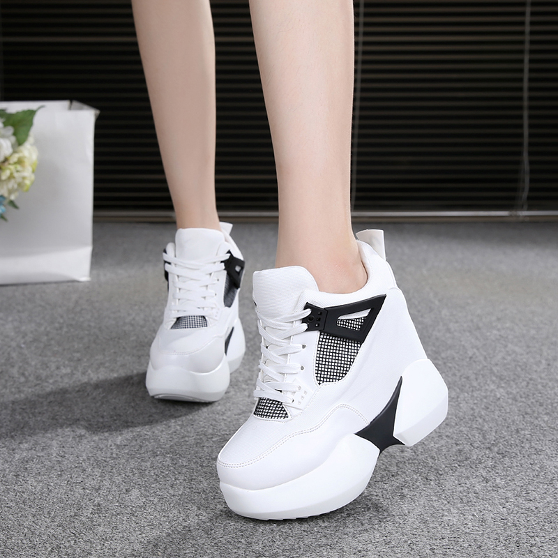 Women Sneakers Spring Autumn Fashion Breathable High Heels Ladies Casual Shoes Vulcanize Women Platform Shoes Female Chaussure