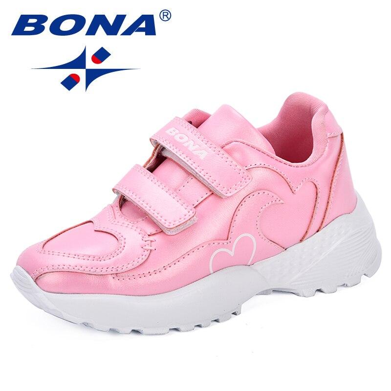 Детская обувь BONA, спортивная обувь для мальчиков, дышащие кроссовки для девочек, модная брендовая повседневная обувь для мальчиков, 2018