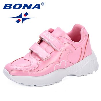 BONA 2018 Autumn New Kids Shoes Boys Sport Shoes New Designer Breathable Shoes For Girls Sneakers Fashion Brand Casual Shoes Boy hot sale boys shoes children casual shoes girls new brand kids leather sneakers sport shoes fashion casual children boy sneakers