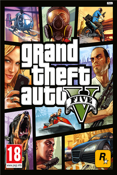 Custom Canvas Art Grand Theft Auto Poster GTA 5 San Andreas Game Wallpaper Grand Theft Wall Stickers Mural Home Decoration #775#