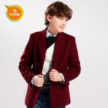 DOOLLEY Boy Wool Coats Kids Fashion Jacket Black Blue Red Children Autumn Winter Clothing Size 130-170 cm