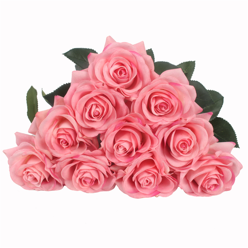 JAROWN Artificial Real Touch Hand Feel Rose Flowers For Valentine`s Day Preparation Wedding Decoration Home Decor (18)