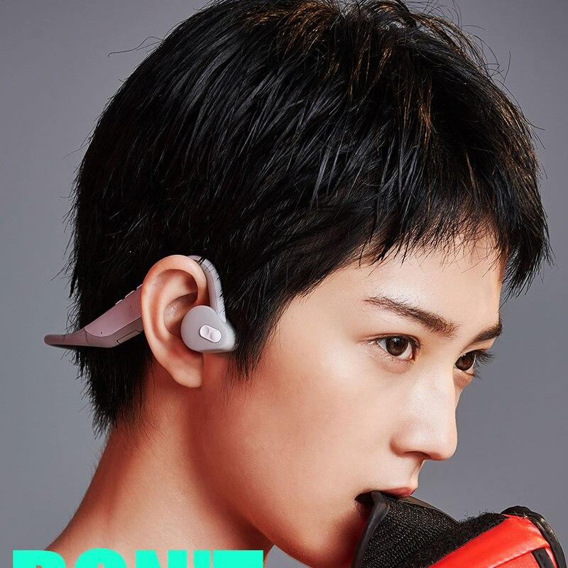 BH128 sans fil bluetooth 5.0 casque bandeau étanche conduction osseuse écouteur avec micro conduction osseuse casque stéréo