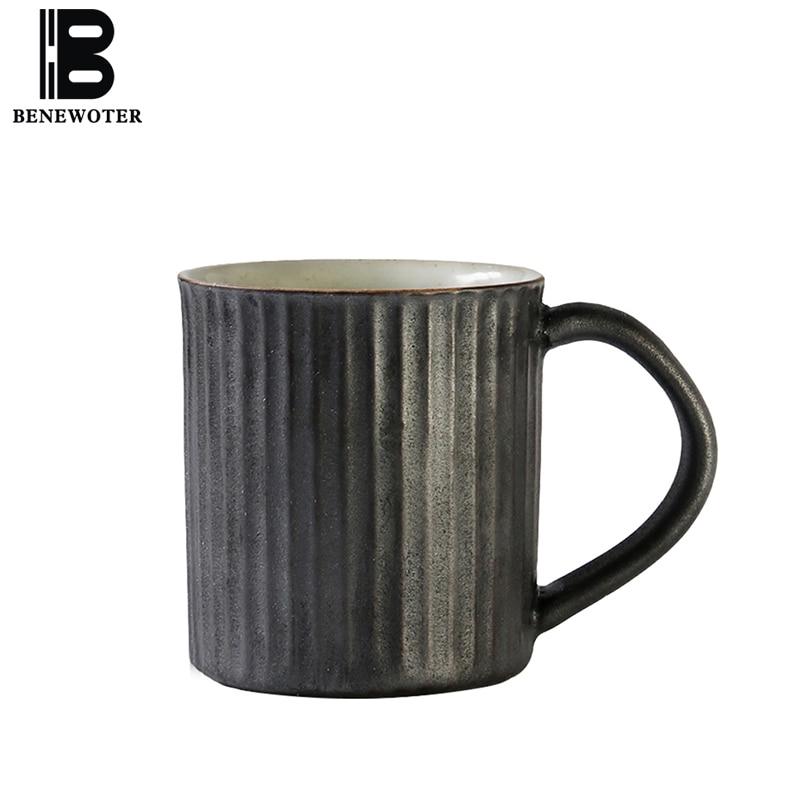 300 ml Style japonais Vintage grossier poterie tasse à café tasse en céramique lait petit déjeuner tasse rétro Drinkware décor à la maison après-midi tasse à thé