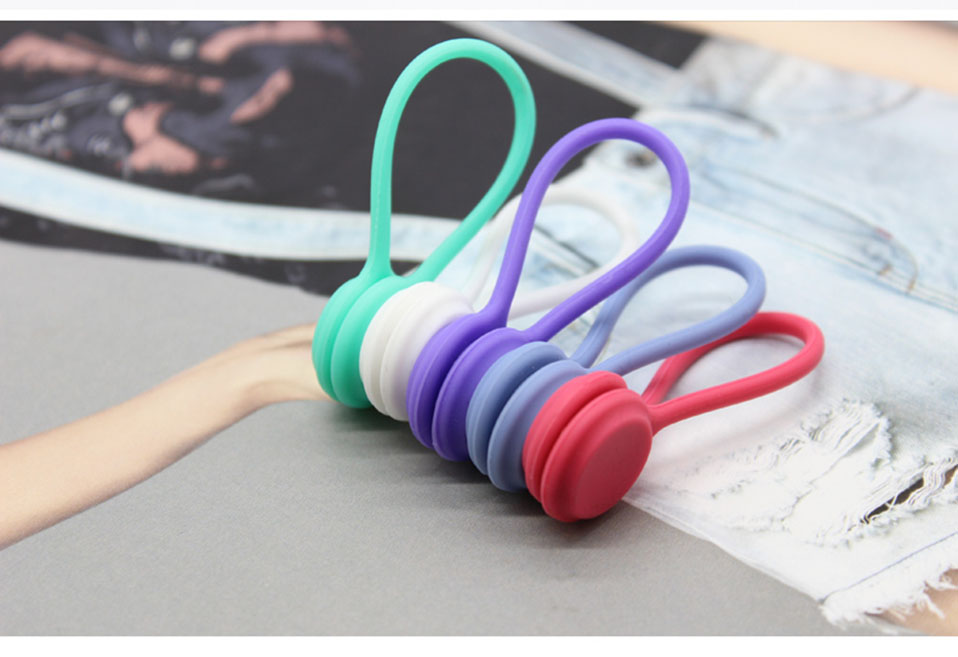 3PcsPack Earphone Cord Winder Cable Holder Organizer Clips Multi Function Durable Magnet Headphones Winder Cables Drop Shipping (9)