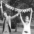 Just Married Bunting Bandeira Do Carro Do Casamento Guirlanda Local Ocidental Party Decor Sinal 2017 Novas Fontes Do Partido Do Evento Do Casamento Photo booth