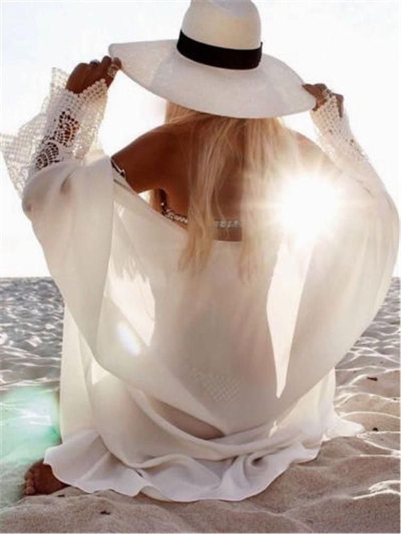 Women Summer Lace Crochet Bikini Cover Up Tops Swimwear Bathing Suit Beach Dress