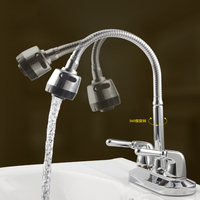 Two Hole Bathroom Kitchen Mixer Can Turn Double Hot And Cold Water Wash Basin Faucet Hot