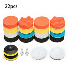 22 Pcs/Set Car Wool And Foam Drill Polishing Pads Kit 3 75mm For Polishers Accessories
